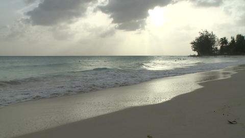 Evening on a Barbados beach (6 of 6) Footage