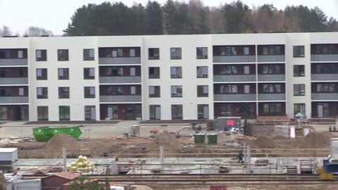 People builders work in construction site Footage