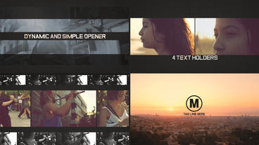 Dynamic and Simple Opener After Effects Template