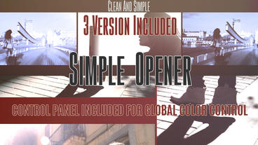 Simple Opener 3in1 (2min, 48sec, 24sec) After Effects Template