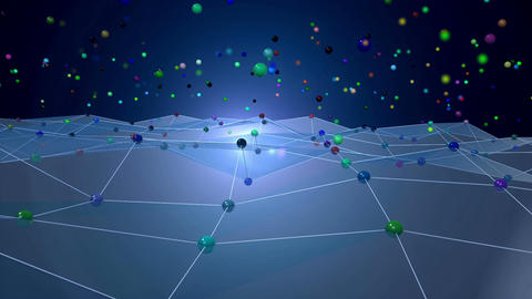 Network space animation Animation
