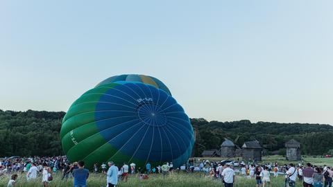 Balloon 1 4 K stock footage