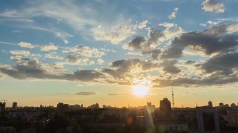 City Sunset 6 4 K stock footage