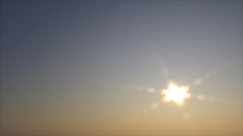 Net Dawn. Clear Sky. Movement Of The Sun. Animation Full Hd stock footage