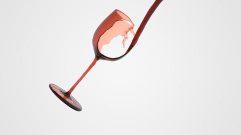 abstract glass of wine. animation full hd Animation