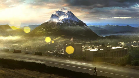 Mountains VFX Style 2 Stock Video Footage