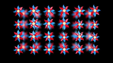 3D pinwheel rotation black hi-speed Animation