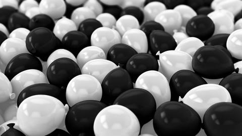 Black and white Balloons,Party Video transition Background Animation