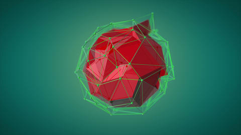 Abstract sphere animation. Optimization Filmmaterial