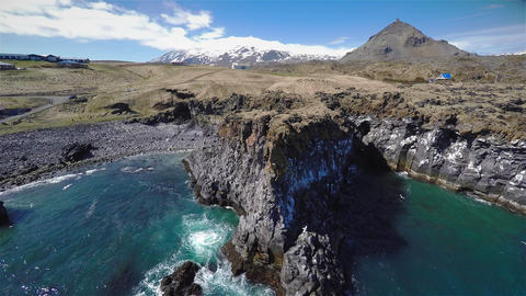 Iceland Coast Rocks Footage
