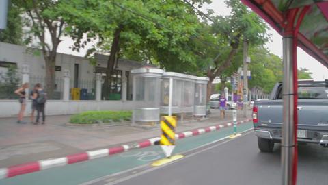 rider view on bangkok tuk tuk Footage