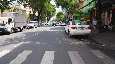 following- vietnamese scooters first person Footage