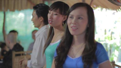 closeup - rowing on mekong Footage