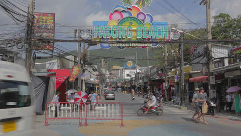 big sign of patong beach Footage