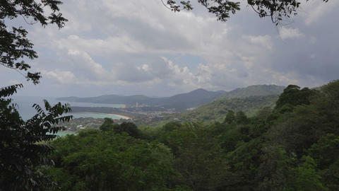 aerial of Phuket from Karon viewpoint Live Action