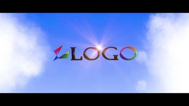 Logo In The Skies stock footage
