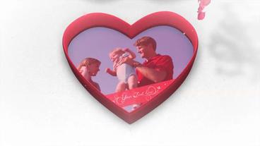 Love Box Reveal stock footage