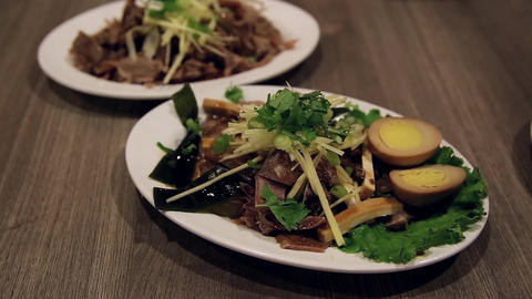Close up chinese food called O-bai-che Footage