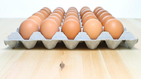 Eggs In Tray On Dolly Style stock footage