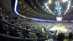 4k basketball game spectators Footage