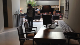 Hotel bar in modern design Footage