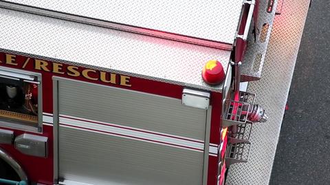 Top Shot Of Fire Truck Light stock footage