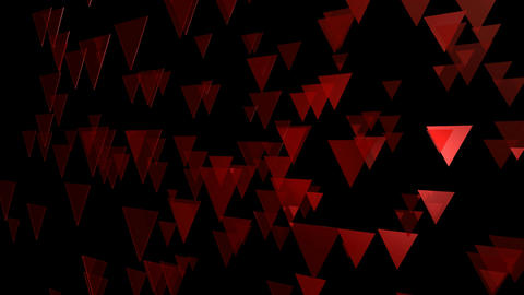 red flying triangle Animation