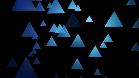 blue moving triangle Animation