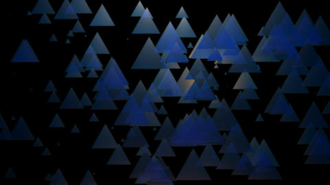 blue spotlights triangle Animation