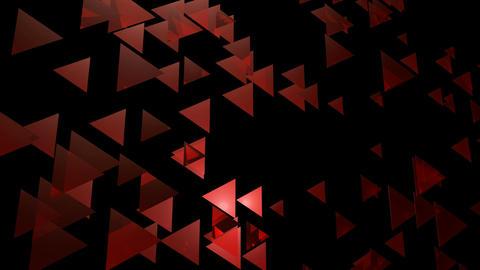 wavy red trigonal Animation
