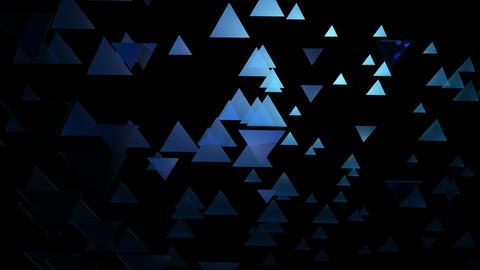 bluish glow triangle Animation