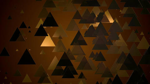 gold triangle lights Animation
