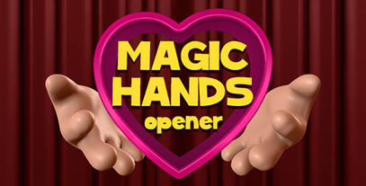 Magical Hands Opener stock footage