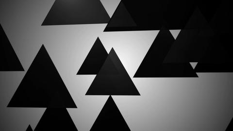 black glossy triangle Animation