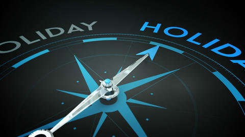 Compass pointing to holidays Animation