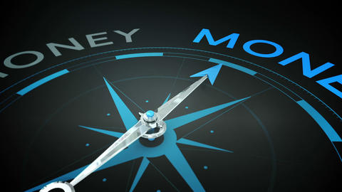 Compass pointing to money Animation
