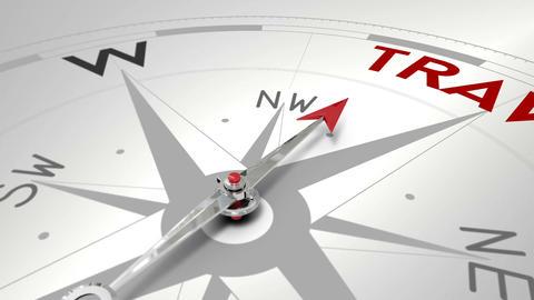 Compass pointing to travel Animación