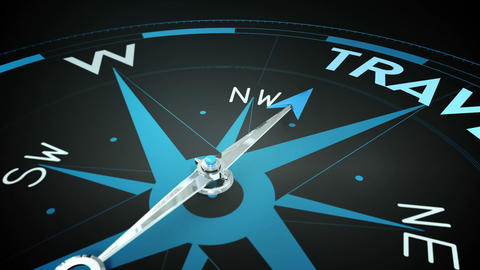 Compass pointing to travel Animation
