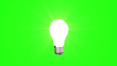 Light bulb on green background Animation