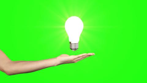Hand presenting light bulb Animation