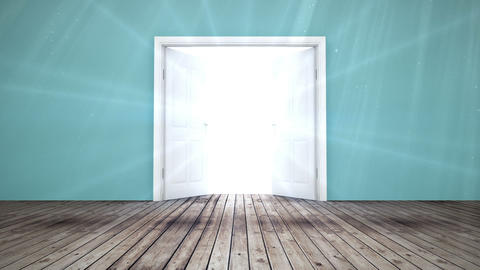 Door opening to light Animation