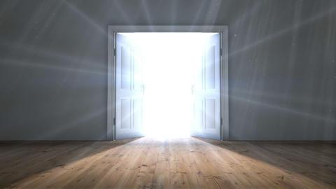 Door opening to light Animation