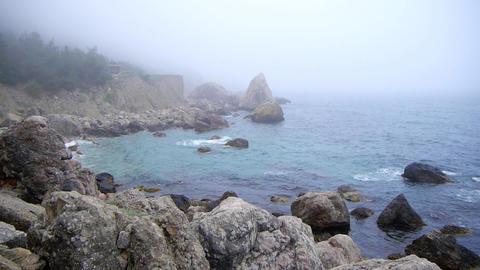 Fog on the sea in summer in Crimea Footage