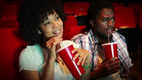 Friends watching movie Footage
