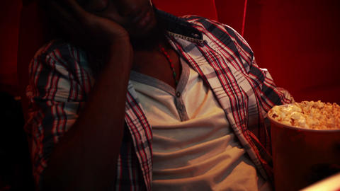 Young man asleep Footage