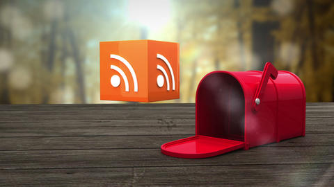 Post box opening to show at wifi icon Animation