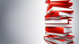 Red Books Stack (Loop) Stock Video Footage