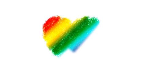 Rainbow Heart Drawing Stock Video Footage