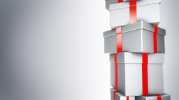 Pile of Gifts White (Loop) Stock Video Footage