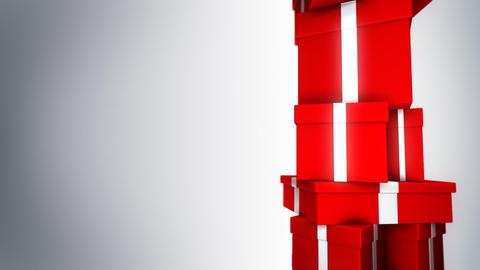 Pile of Gifts (Loop) Stock Video Footage
